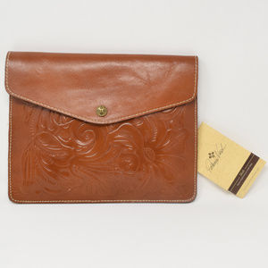 Patricia Nash Midi Clutch Tooled Leather New
